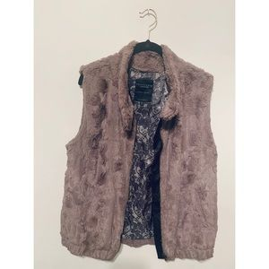 Sanctuary Brown Faux Fur Vest